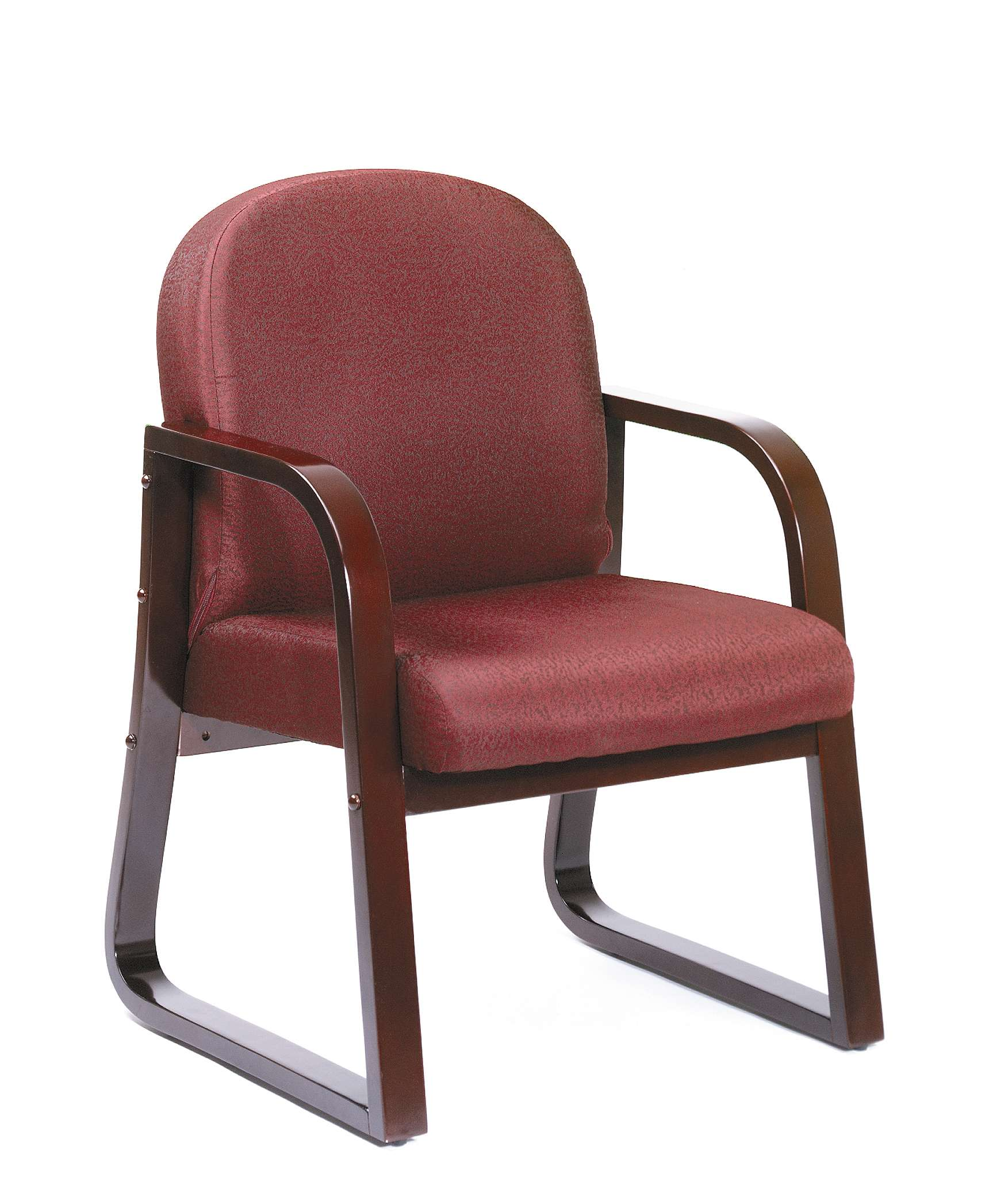 Merveilleux Boss Office Products B9570 BY. Burgundy Side Chair In Mahogany Finish