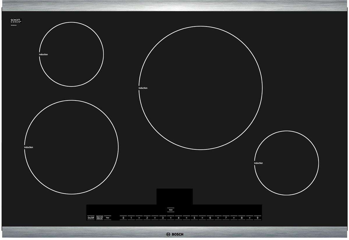 "Bosch-NIT5065UC-2. 500 Series 30"" Stainless Steel Induction Cooktop"