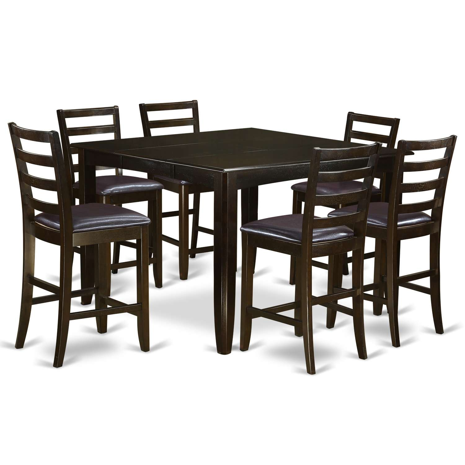 Fairwinds 9 Piece Pub Table Set   Square Pub Table And 8 Counter Height  Chairs