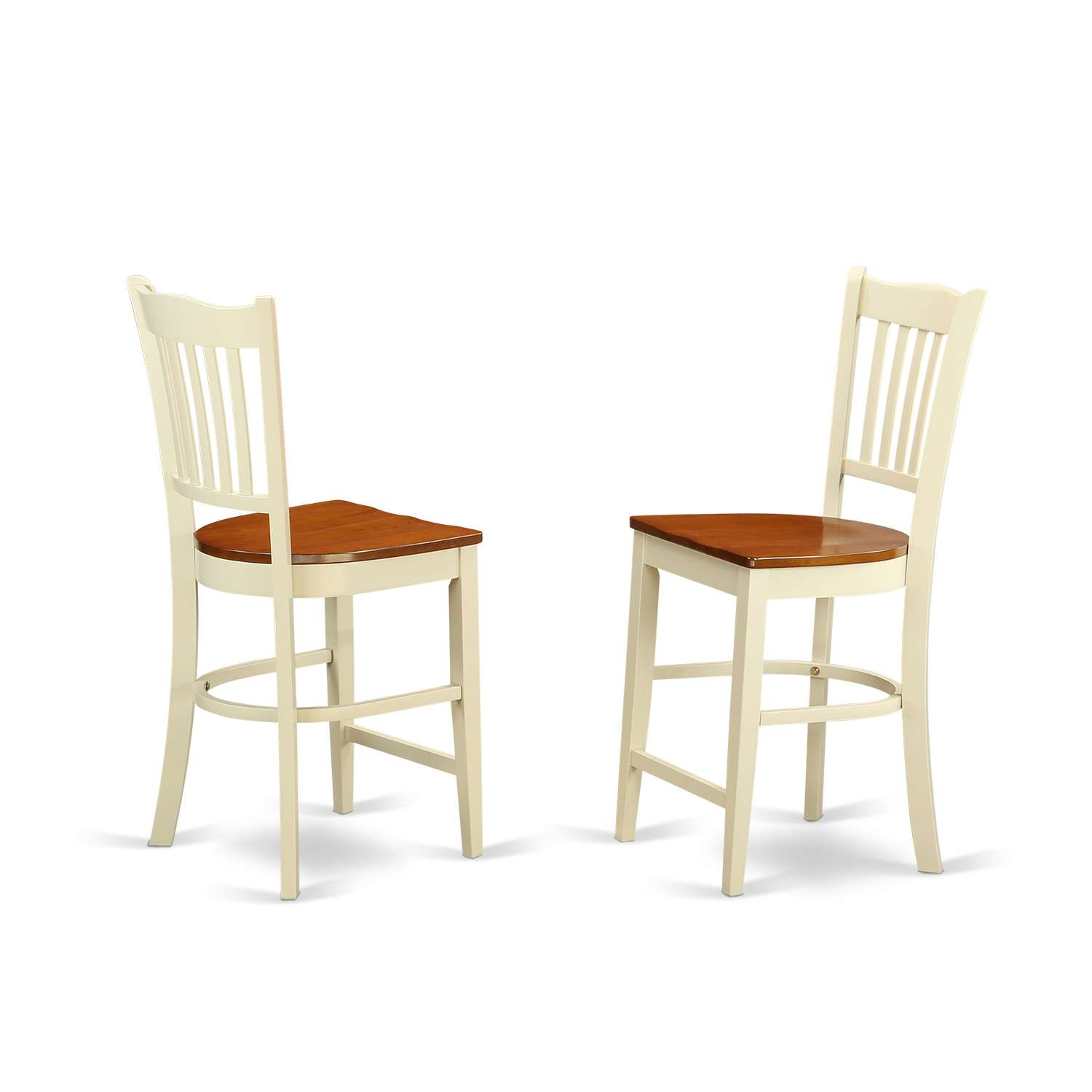 East West Furniture Gronton Counter Stools With Wood Seat