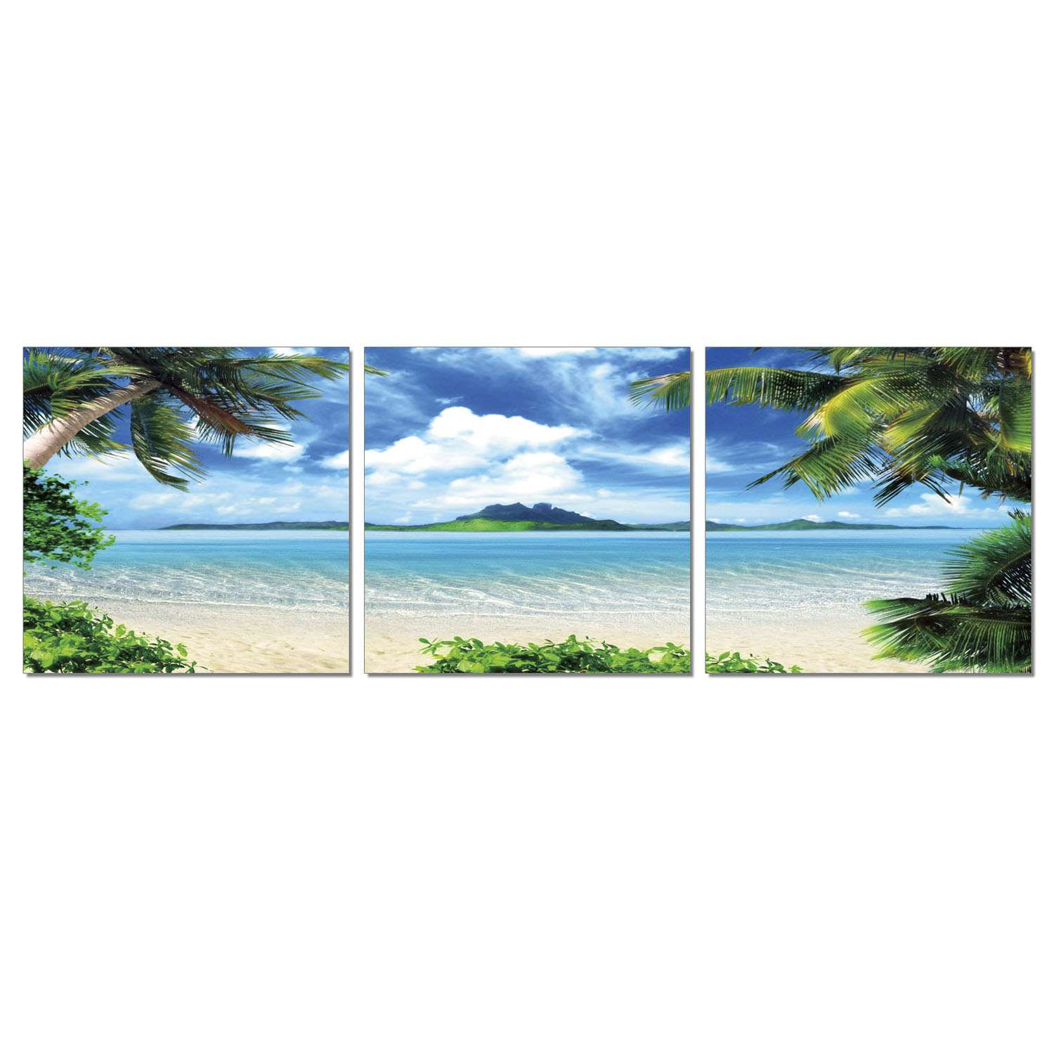 Furinno F089CT60 SENIK Coconut Tree Scenery 3-Panel MDF Framed Ph