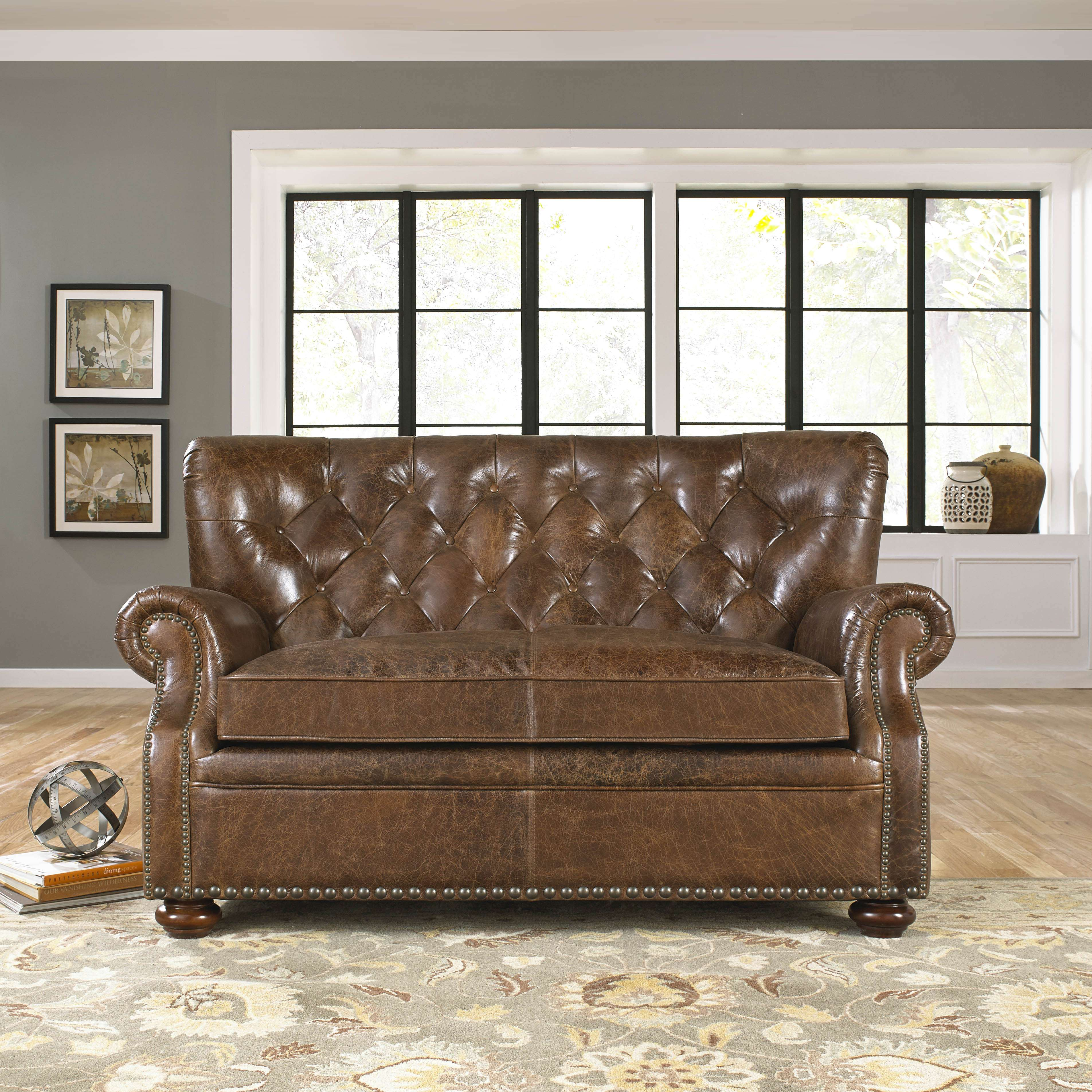 Beau Louis Loveseat In Cocoa Brompton