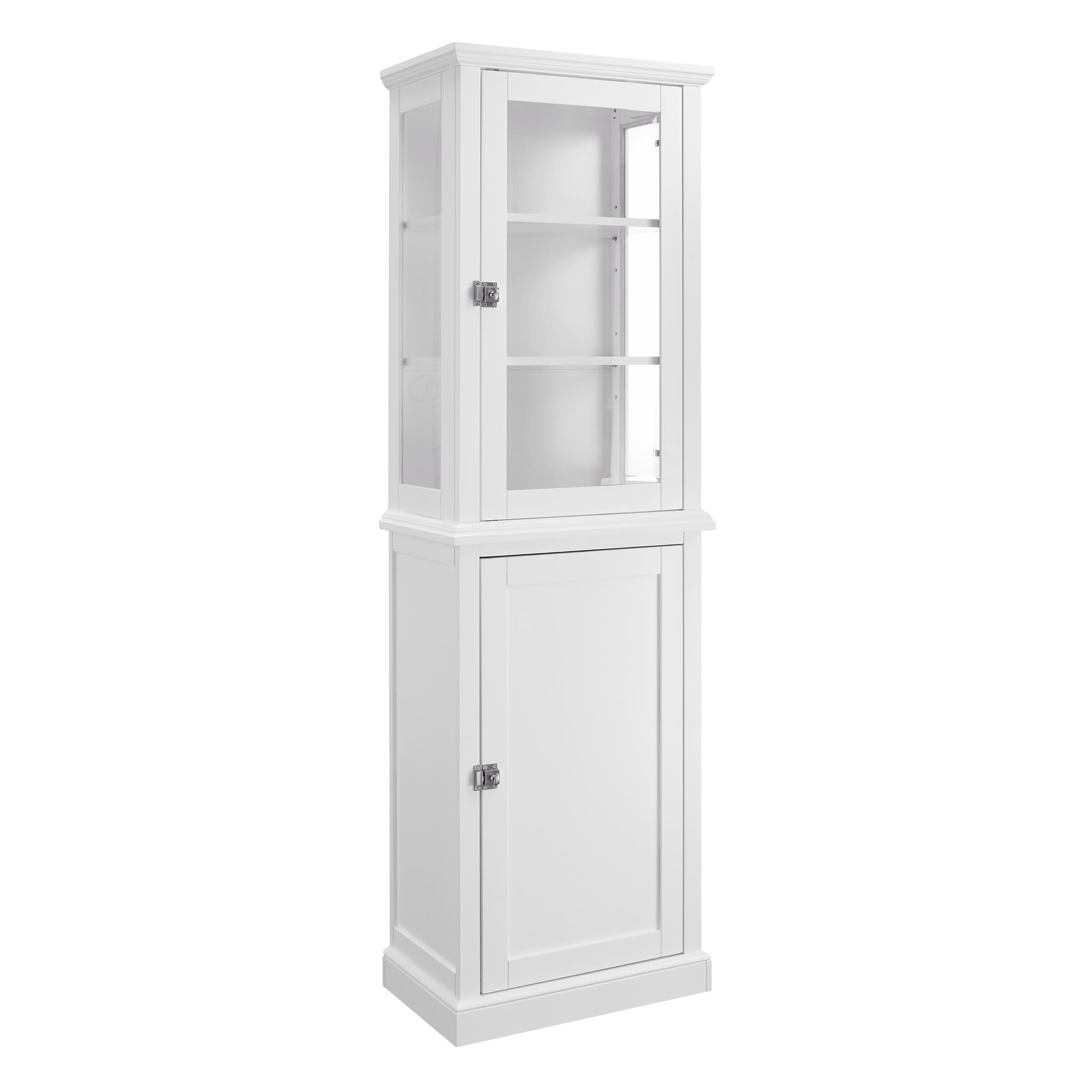 Merveilleux Scarsdale White Tall Cabinet