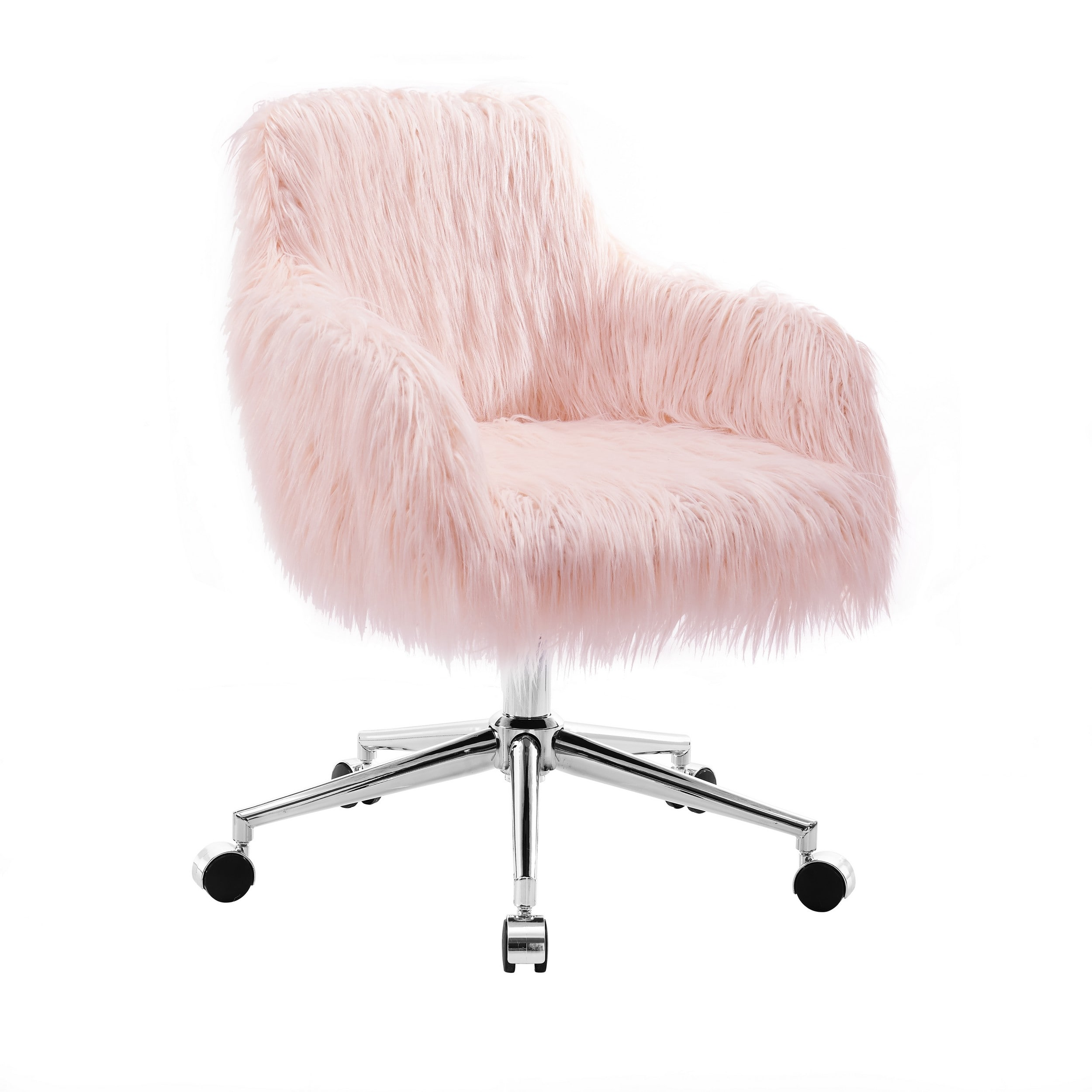 Fiona Pink Chrome Base Office Chair