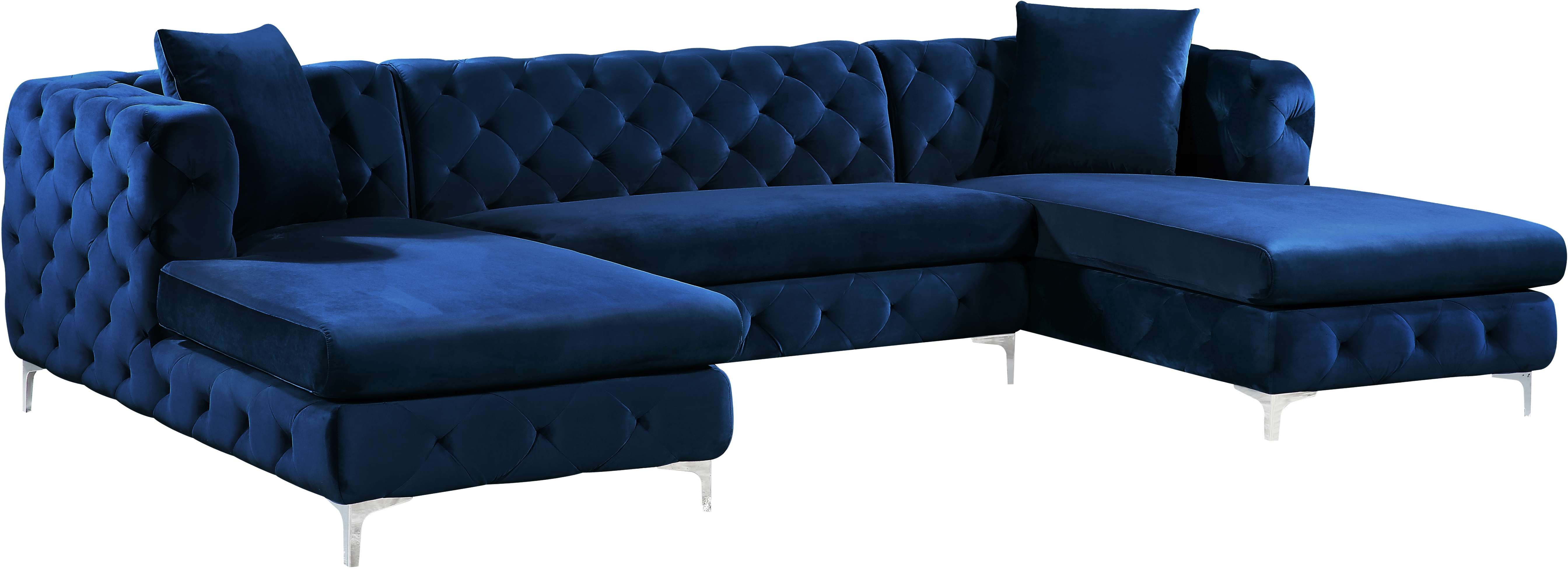 Meridian 664navy Sectional