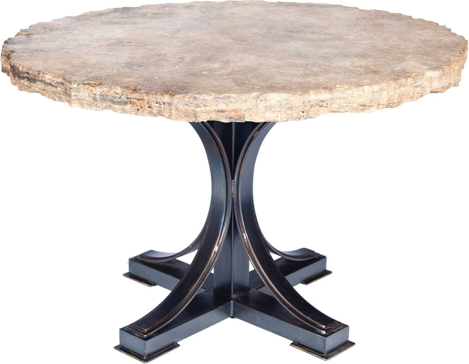 Prima Design Source Winston Dining Table With 60 Round Marble Top