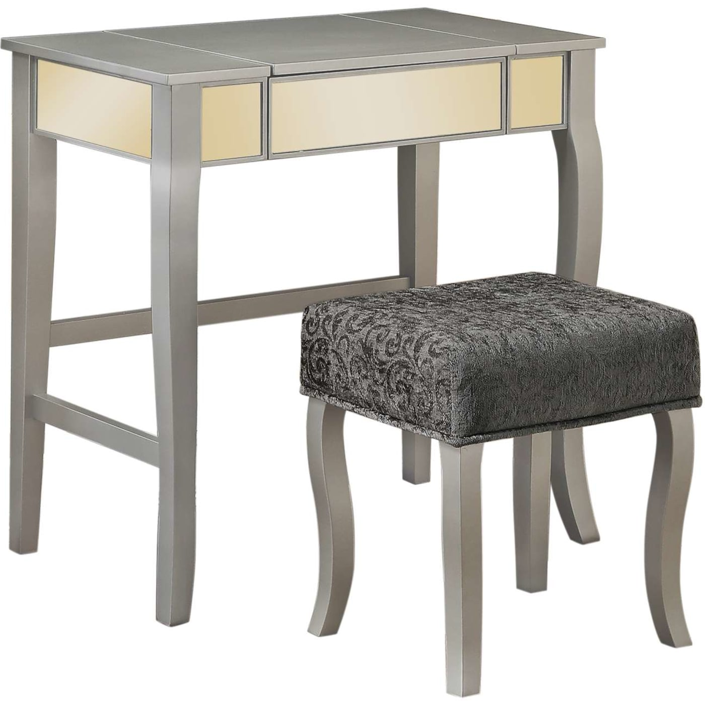 Linon Home Decor Products Inc. Harper Pewter Gray Vanity