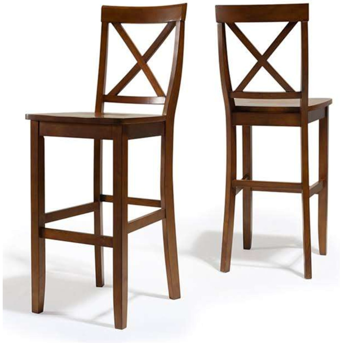 Crosley X Back Bar Stool In Classic Cherry Finish With 30