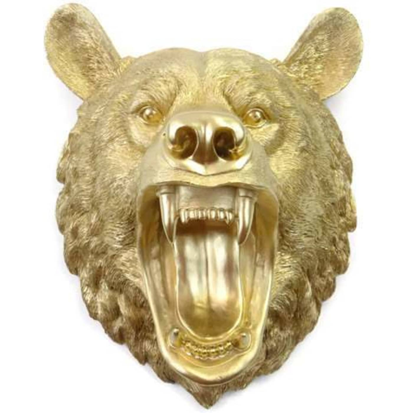Near and Deer OMBE08 Gold Roaring Bear Wall Mount Decor | Goedeke