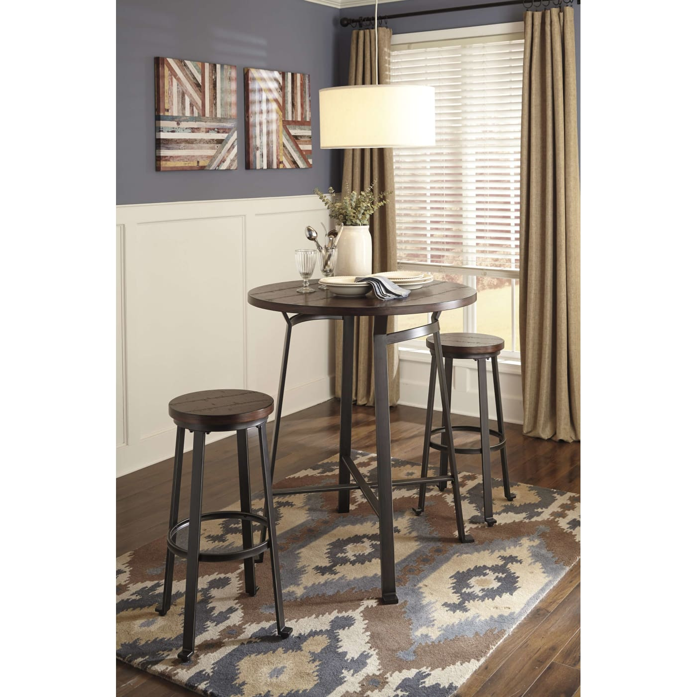 Signature Design By Ashley Challiman Rustic Brown 3 Piece