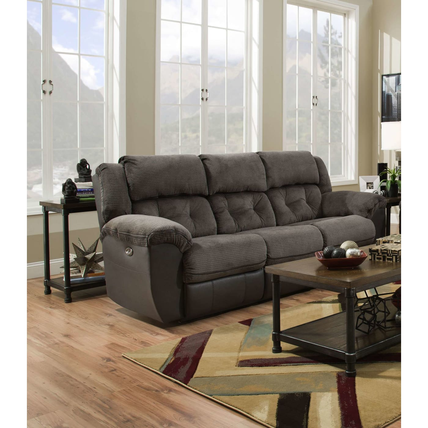 Genial Beale Grey Double Motion Sofa. Simmons 50446BR 53 Beale Gry ...