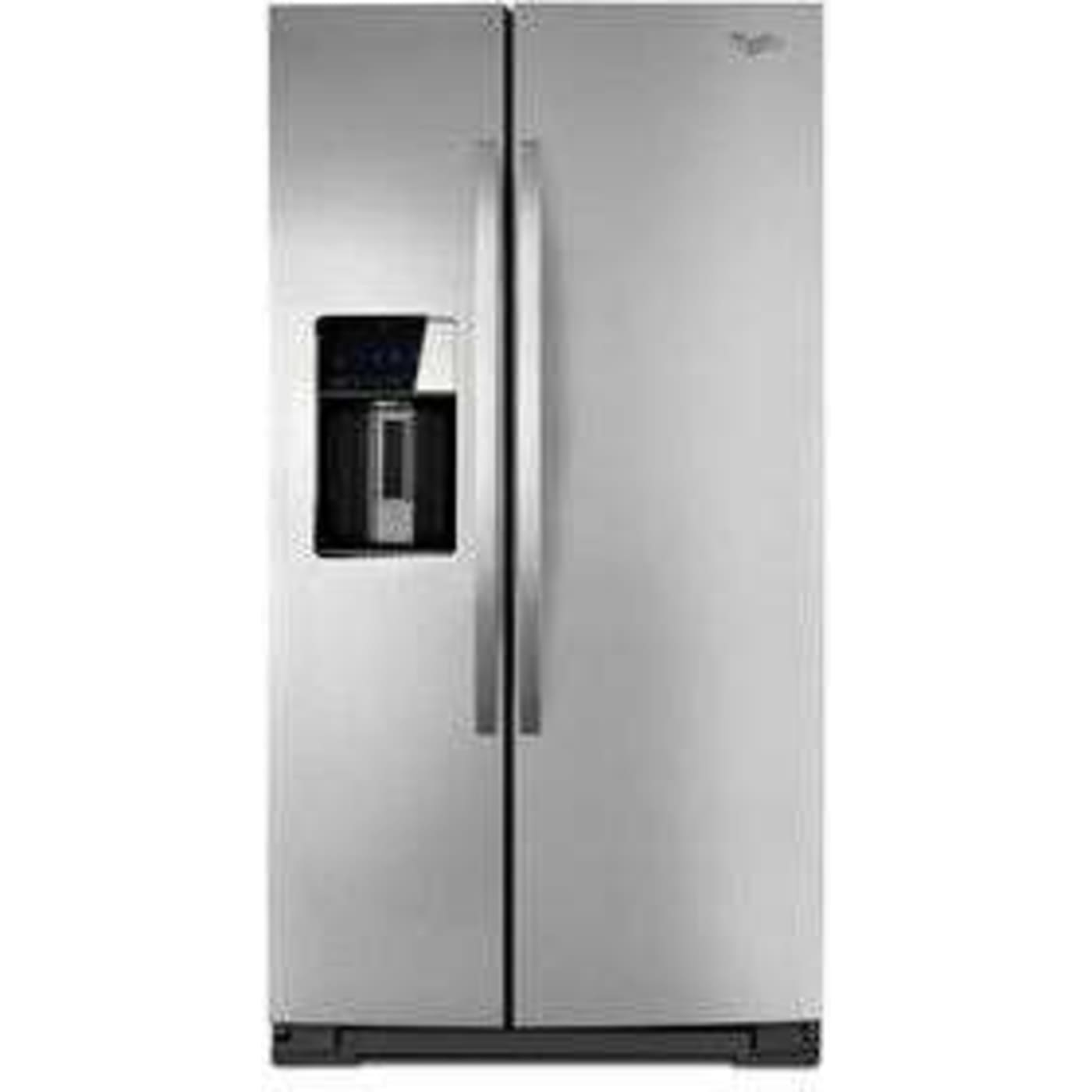 Whirlpool Wrs950Siam 36 297 Cu Ft Stainless Steel Side By Side Refrigerator
