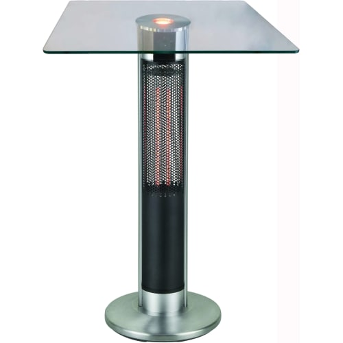 Bar Table With Infrared Electric Outdoor Heated Column