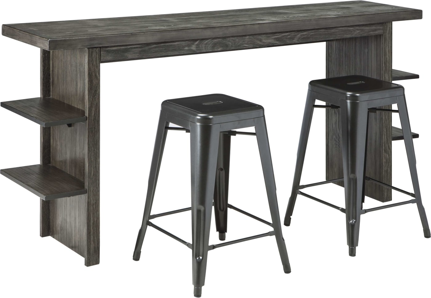 Signature Design By Ashley Lamoille Dark Gray 5 Piece