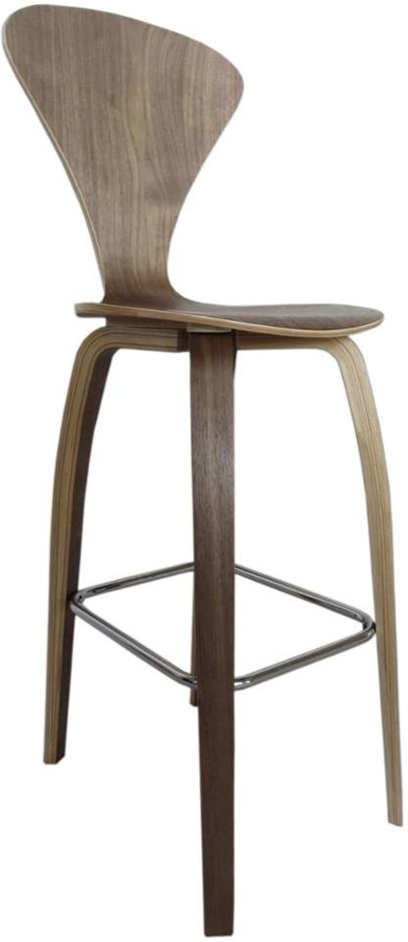 Fine Mod Imports Walnut 30 Quot Bar Stool Amp Reviews