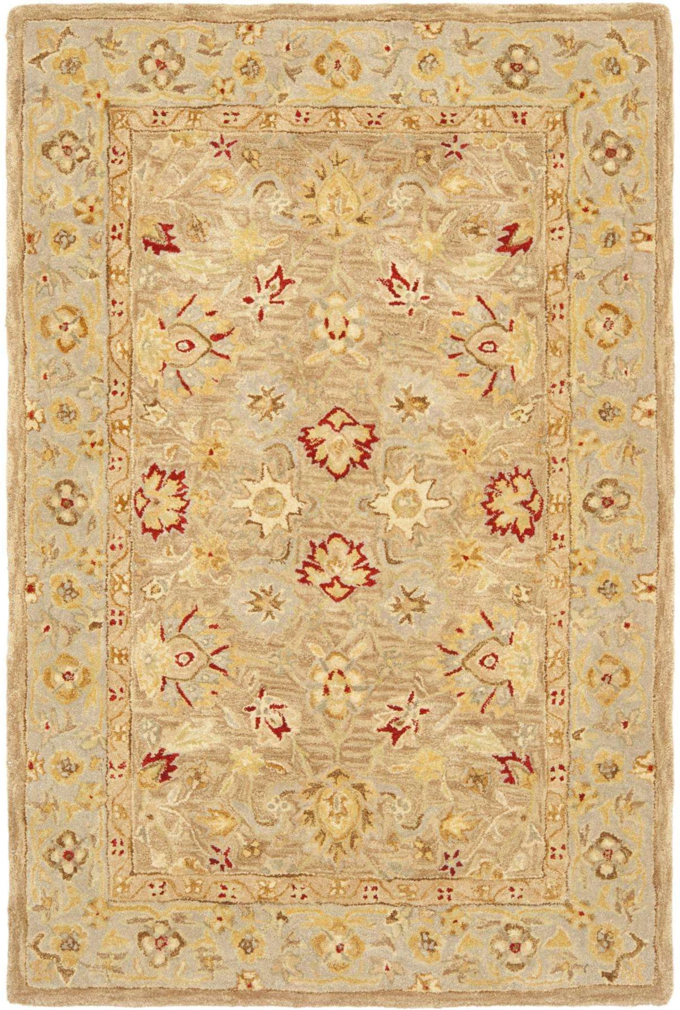 Safavieh Anatolia Hand Tufted Tan And Ivory 11 X 17 Area
