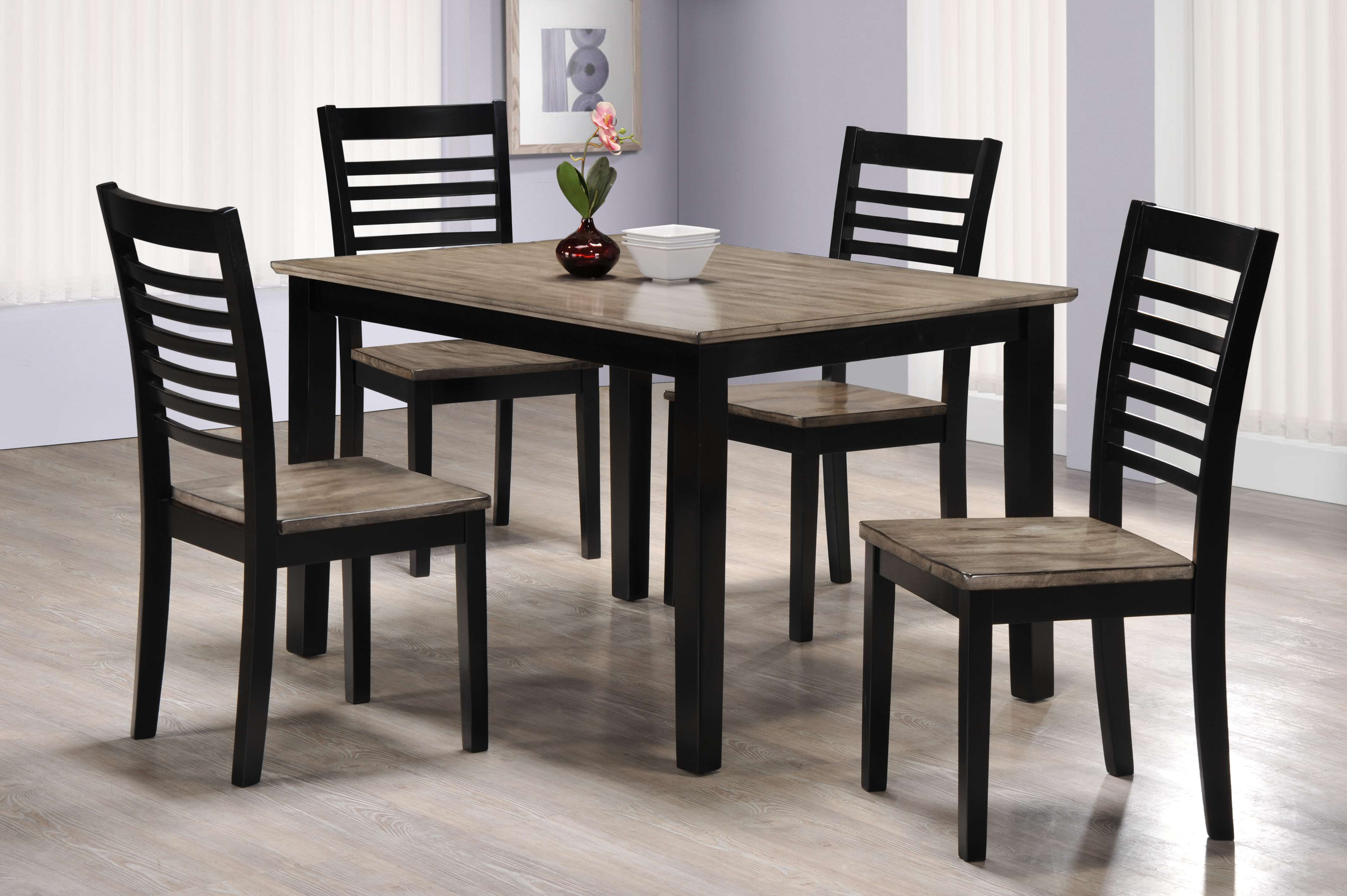 East pointe ebony and gray 5 piece dining set