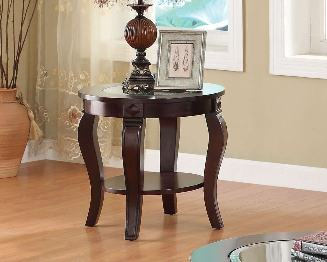 Acme Furniture Riley Walnut Clear Glass End Table Reviews