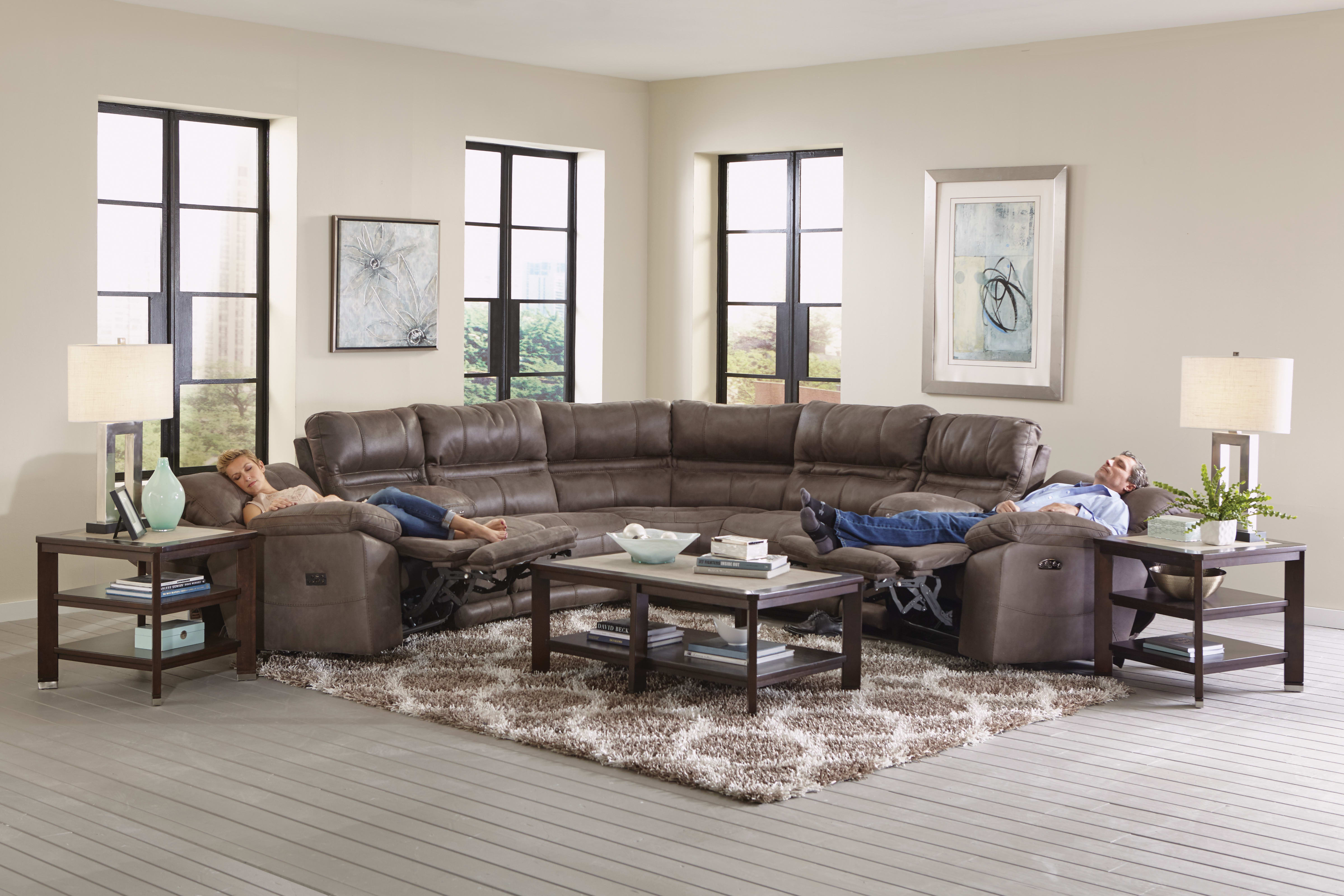 Catnapper Braxton Charcoal 7-Piece Sectional Sofa & Reviews ...