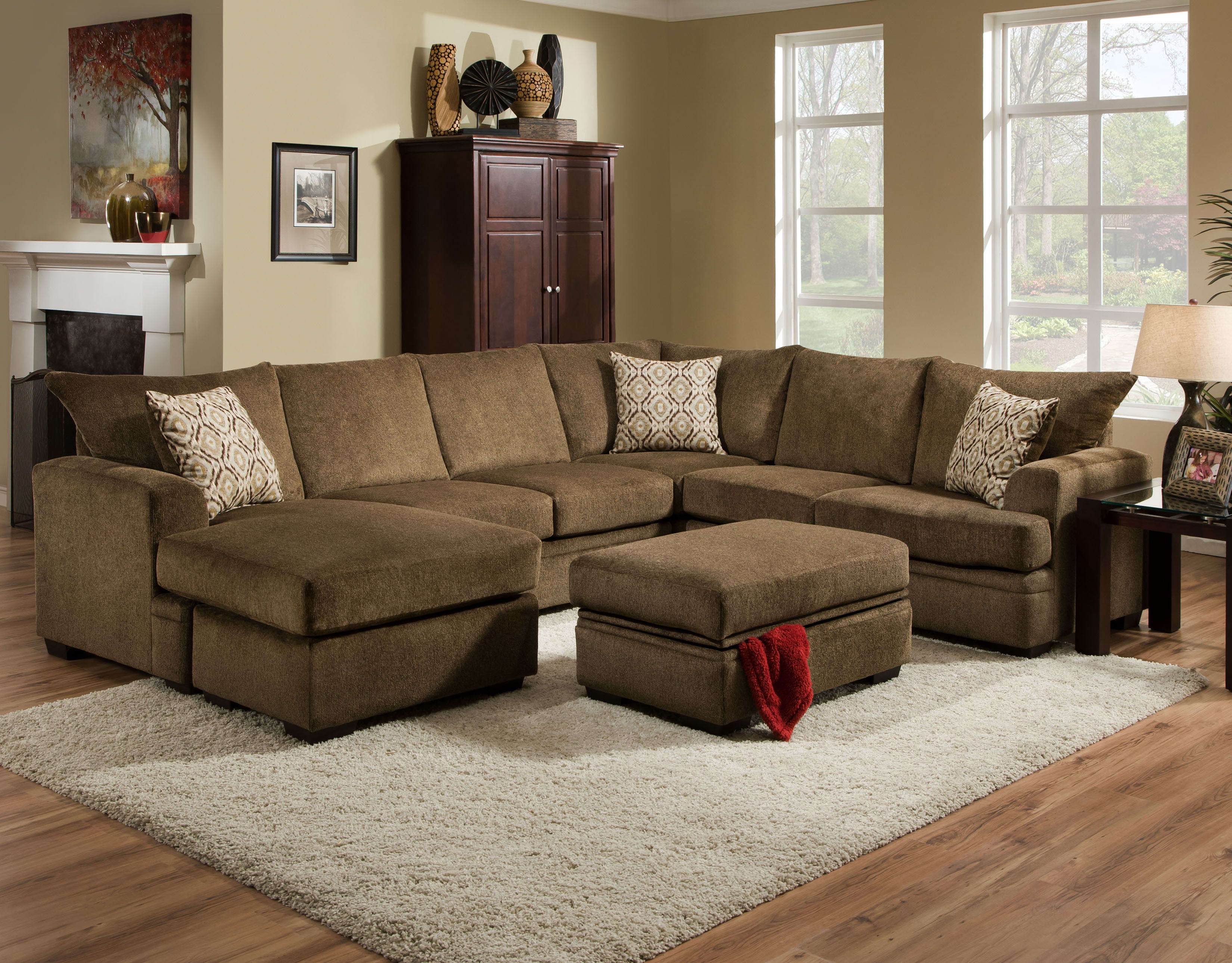 Chelsea Home Atherton Cornell Cocoa 2-Piece Sectional with LAF Sofa on emerald home furniture, williams home furniture, tracy home furniture, madera home furniture, davis home furniture,