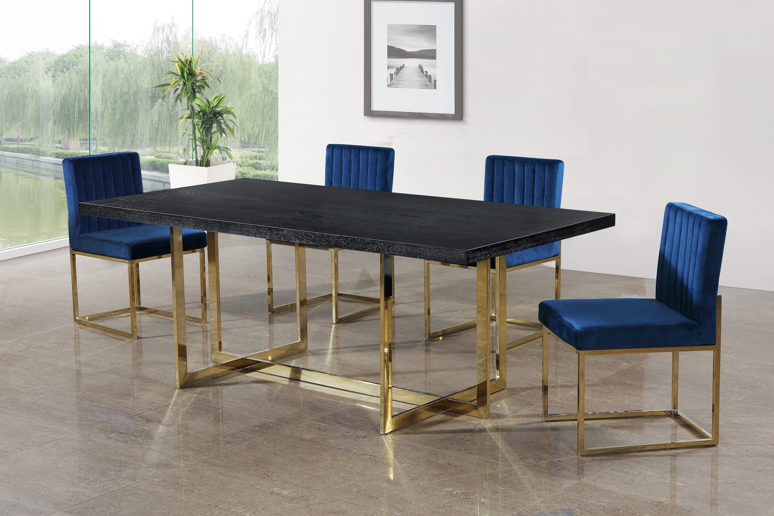 Chrome Dining Room Table And Chairs