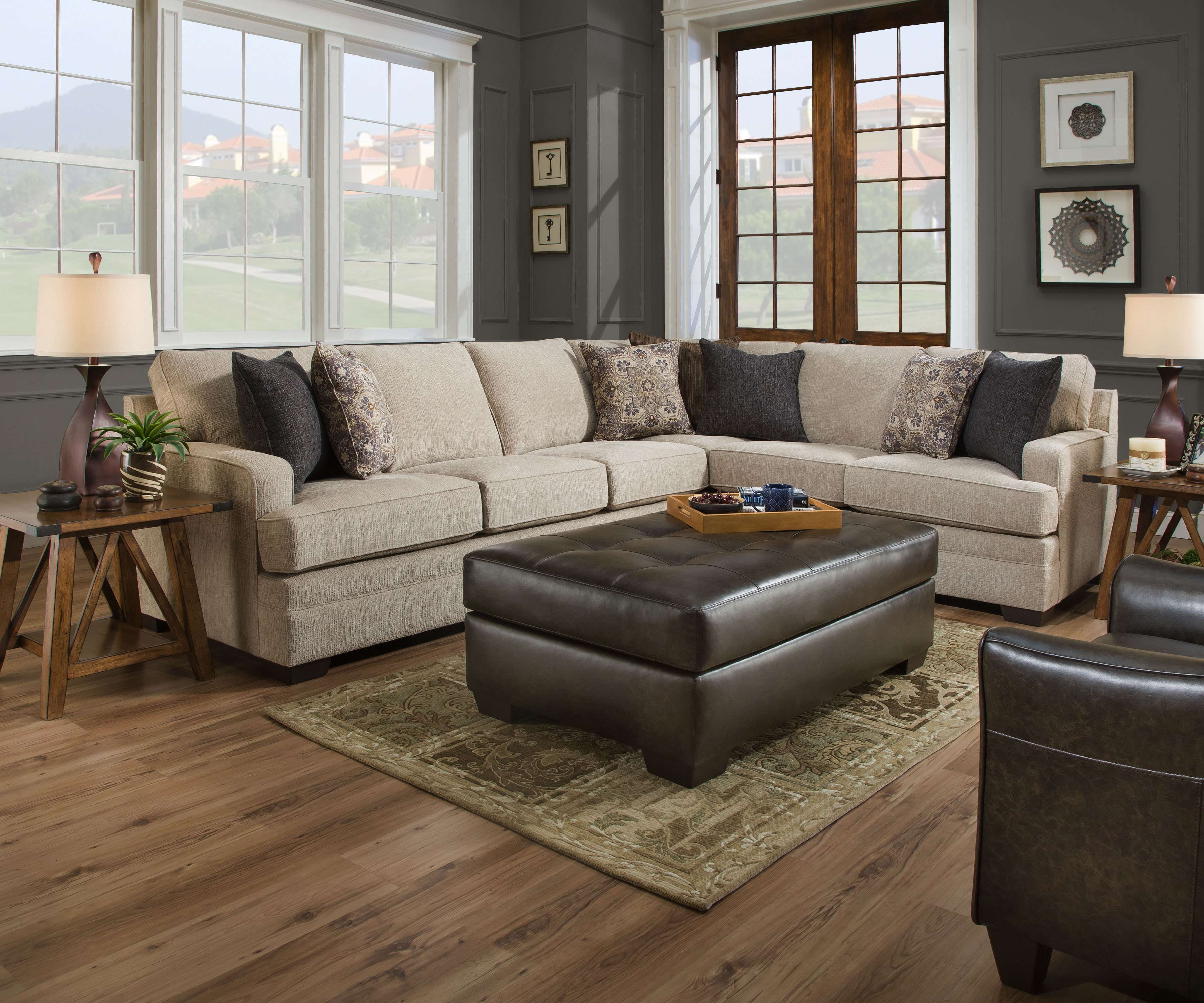 Exceptionnel Macy Sand 2 Piece Sectional Sofa