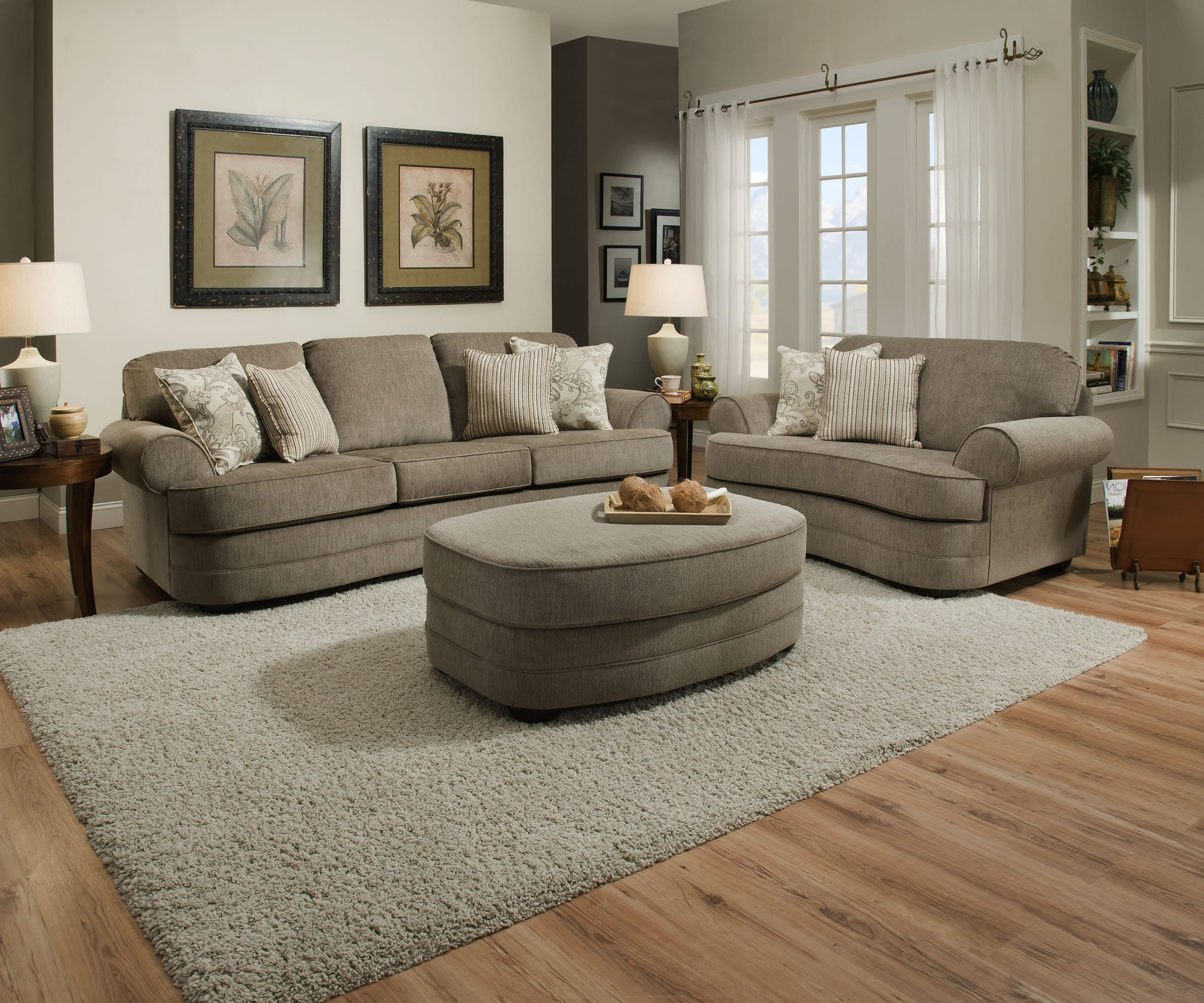Simmons Upholstery 9255BR-015 Grandstand Fawn, 9255BR-03 Grandstand Fawn
