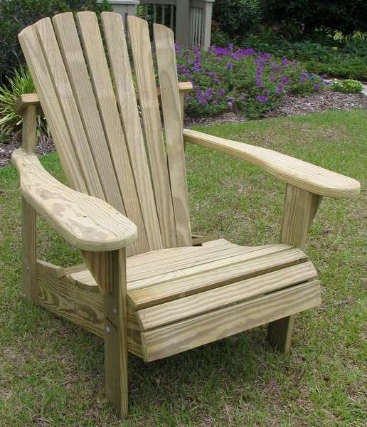 Pressure Treated Natural/Unfinished Adirondack Chair   Pine