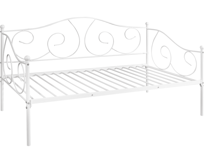 Furinno Angeland White Carca Metal Twin Size Daybed Fdb222t Wh Goedekers Com