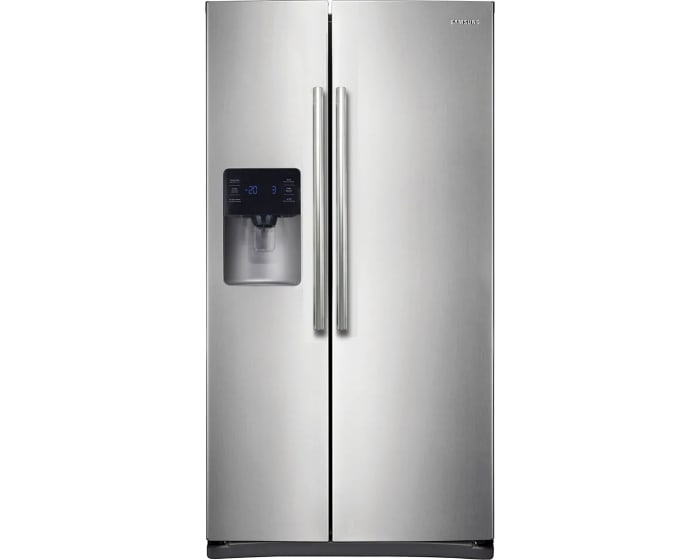 Rs25h5111sr By Samsung Side By Side Refrigerators Goedekers Com