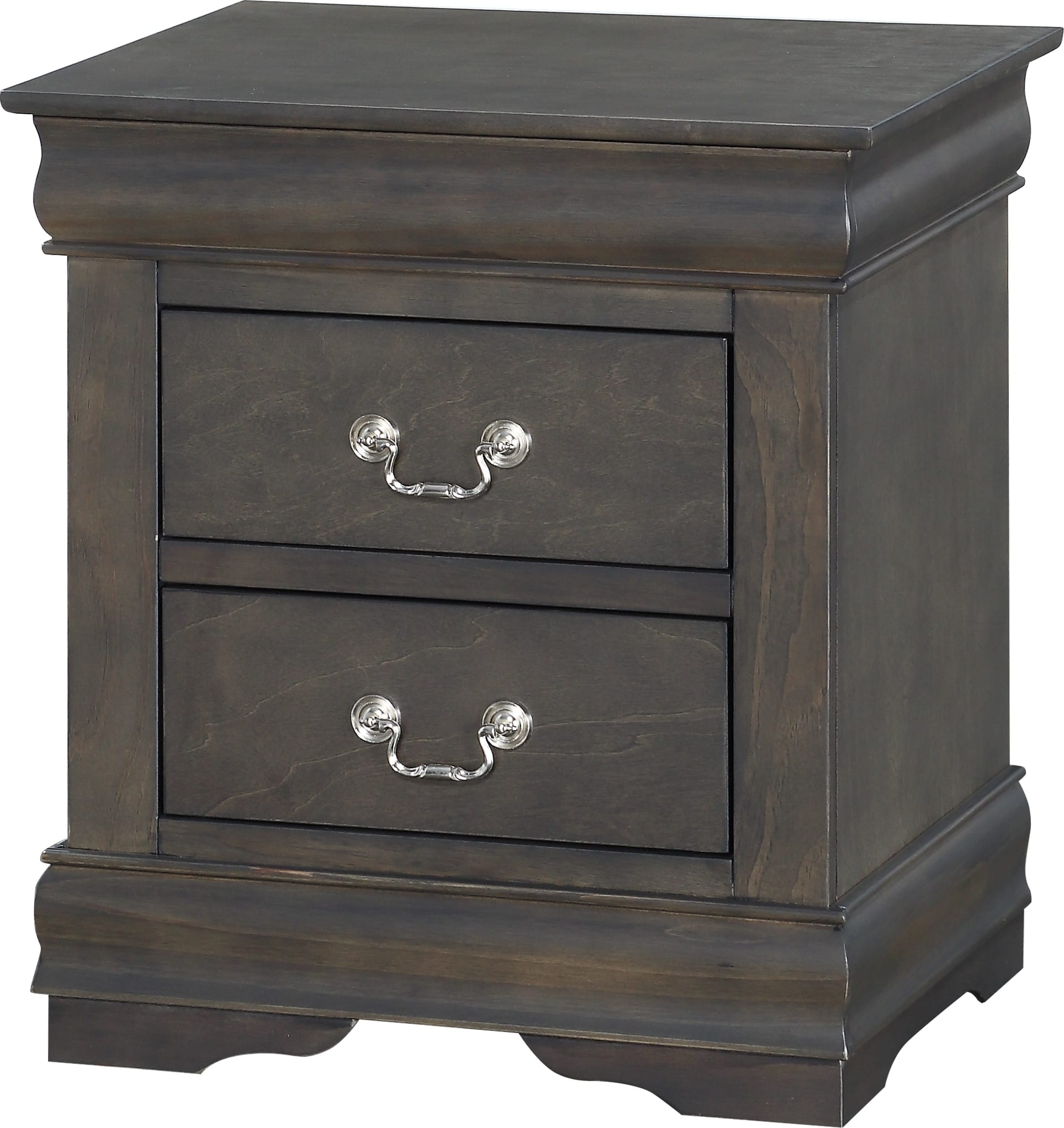 Acme Furniture Louis Philippe Dark Gray Nightstand 26793 Goedekers Com