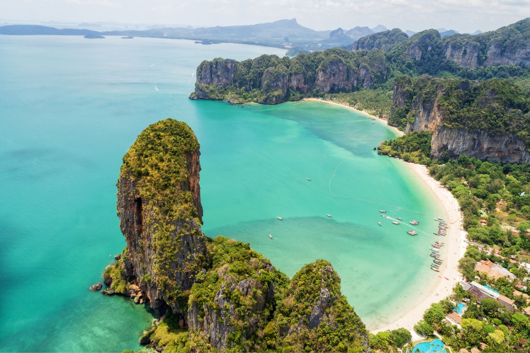 Aerial View of Krabi Thailand Coast