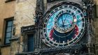 Closeup of Astronomical Clock in Prague
