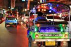 Colorful Lights on Tuk Tuk During Night Tour