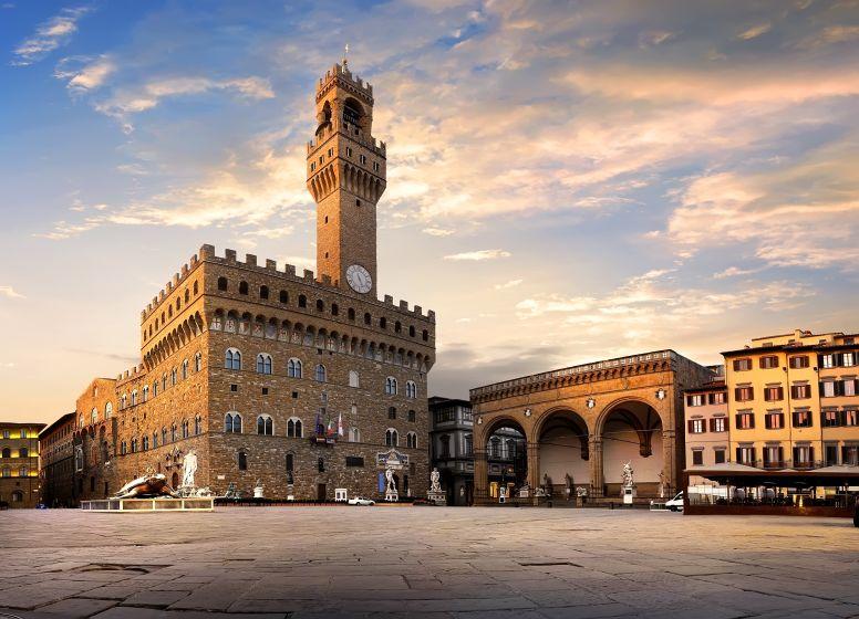Piazza Della Signoria in Florence at Sunset
