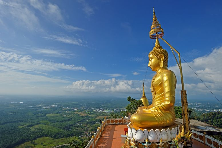 Golden Buddha at Tiger Temple in Krabi