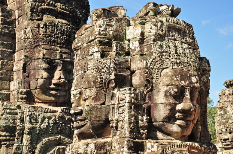 Faces at Bayon Temple Angkor Wat