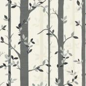 arthouse birch tree wallpaper in black