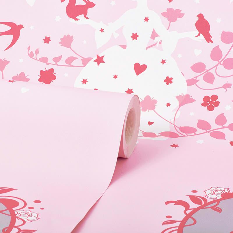 Debona Princess Fairies Pink Wallpaper 20005