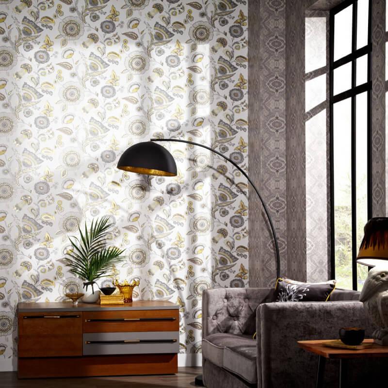 Arthouse Catarina Floral Gold Wallpaper   690801