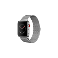 Apple Watch Series 3 Stainless Steel with 42mm Milanese wrist band
