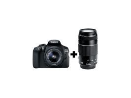 Canon Camera EOS 1300D Kit + lens EF-S 18-55mm + lens EF 75-300mm