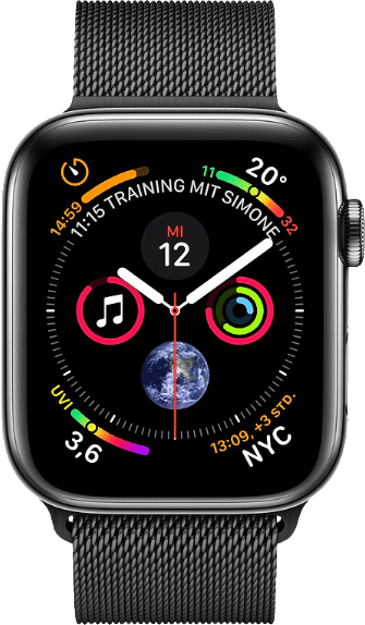 Space Black Steel & Milanese Loop Apple Watch Series 4 GPS + Cellular, 44mm.1