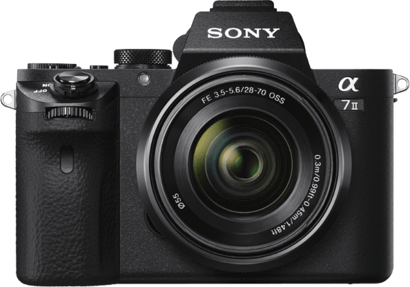 Black Sony Alpha 7 II kit + 28-70mm lens.1