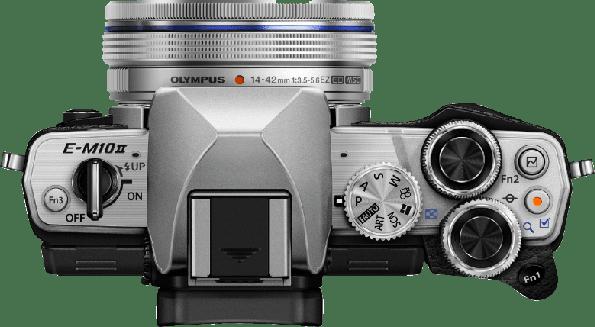 Silver Olympus Camera E-M 10 II M1442 PANCAKE KIT.3