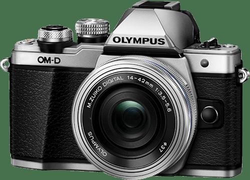 Silver Olympus Camera E-M 10 II M1442 PANCAKE KIT.4