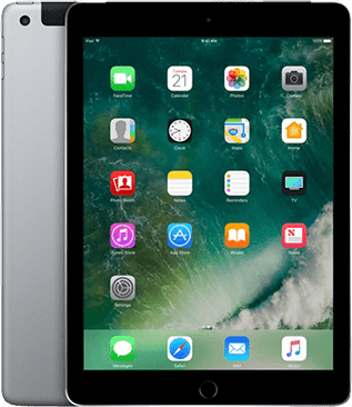 Space Grau Apple iPad Wi-Fi + Cellular (2017).1