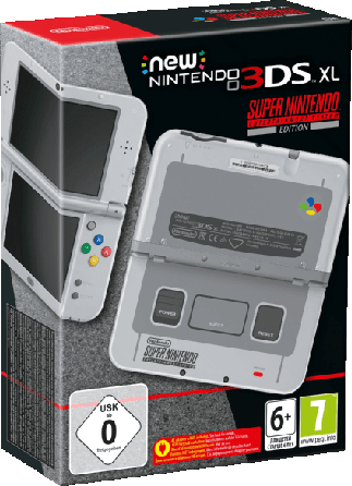 Gray New Nintendo 3DS XL SNES Edition.1