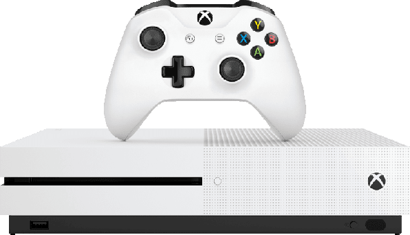White Microsoft Xbox One S.3