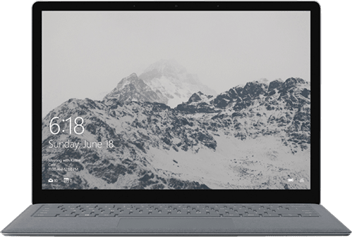 Gray Microsoft Surface Laptop.1